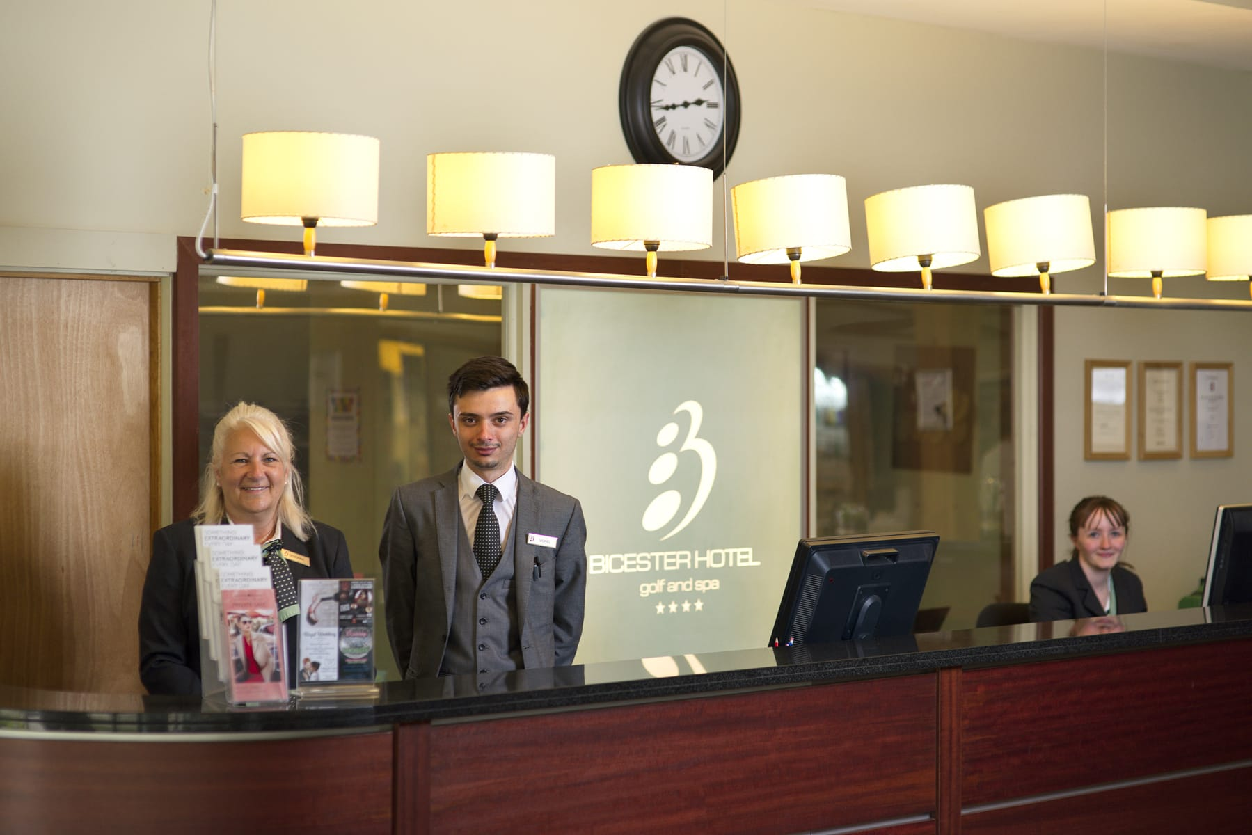 Reception at Bicester, receptionists
